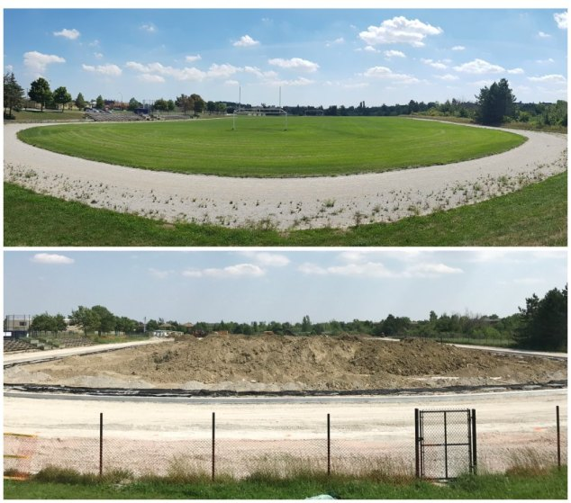 Heart Lake Secondary School New Field Construction