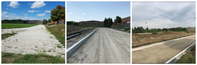 Track construction at heart Lake Secondary School, Brampton