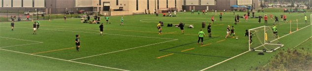 3 7v7 soccer games on turf field