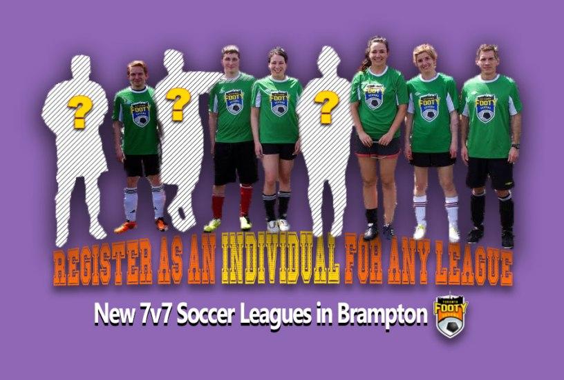 Individual registration for Brampton Soccer Leagues