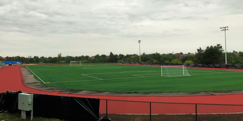 FIFA-grade soccer field at heart Lake Secondary School in Brampton
